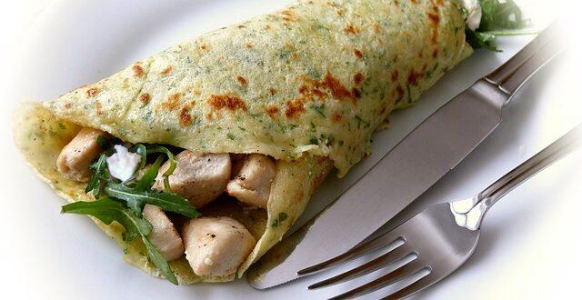 Recette de crêpe salée blanc de poulet / champignon